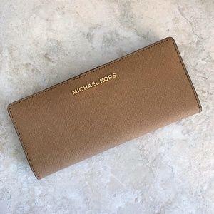 Michael Kors Flat Slim Bifold Wallet ~ Dark Khaki